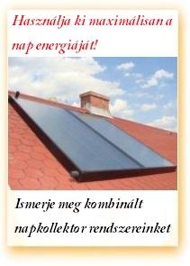termékek kombinált napkollektor rendszer